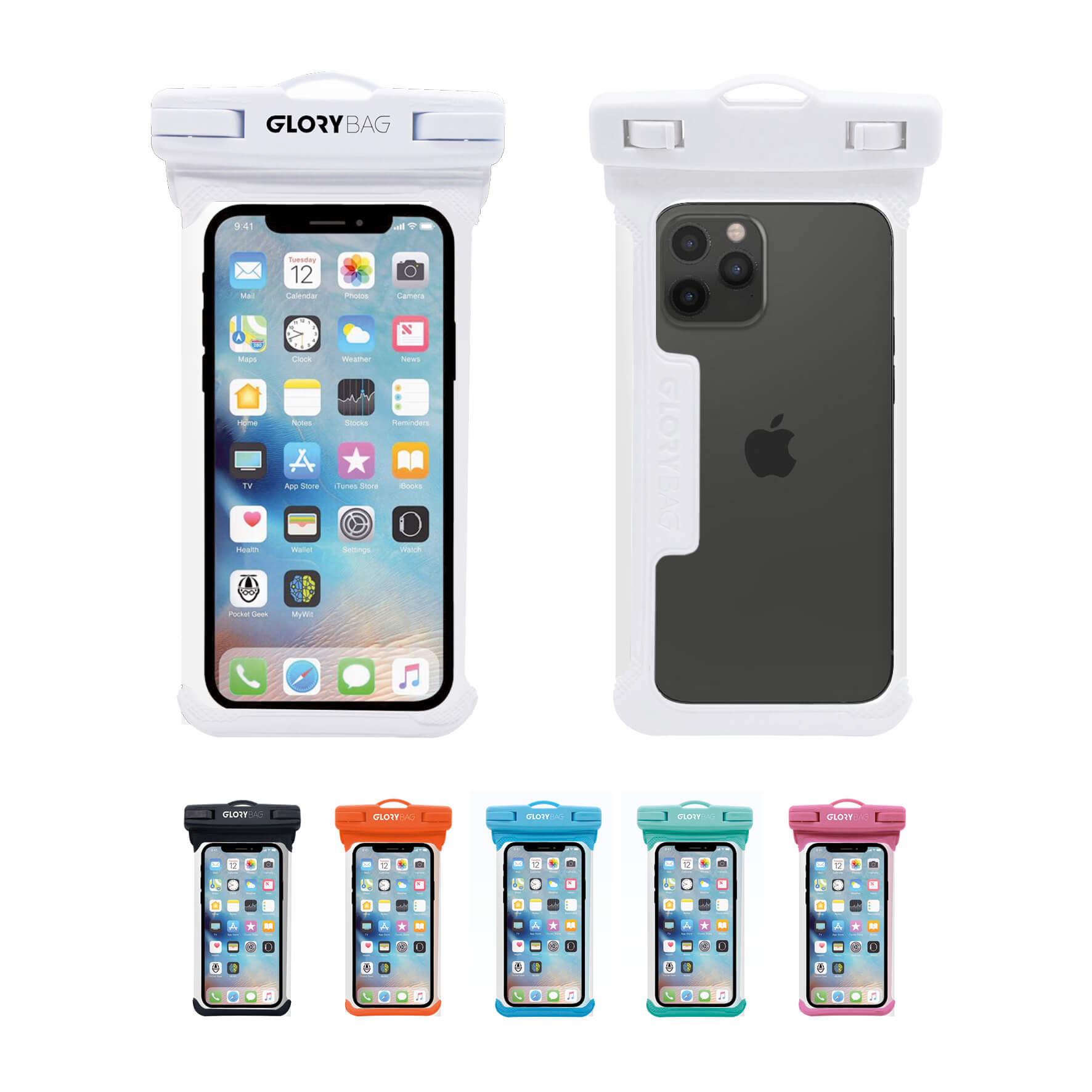 Wasserdichte Handyhülle Weiß