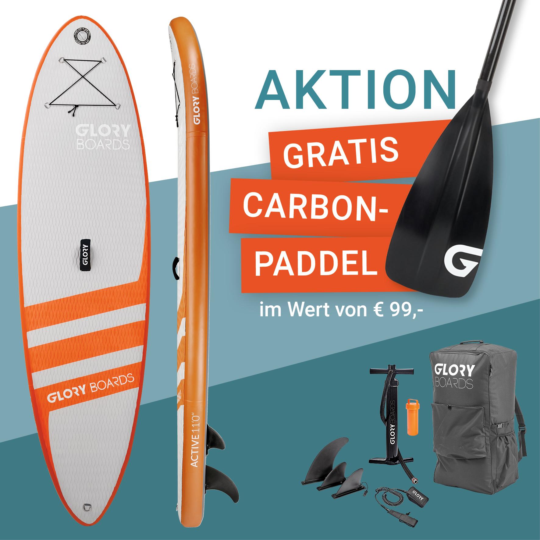 Active 11'0'' Allround SUP Set in Orange mit Carbon Paddel