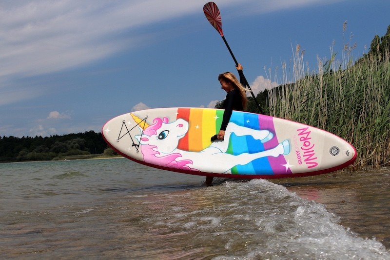 Stand Up Paddle Boards und SUP Paddel für Frauen