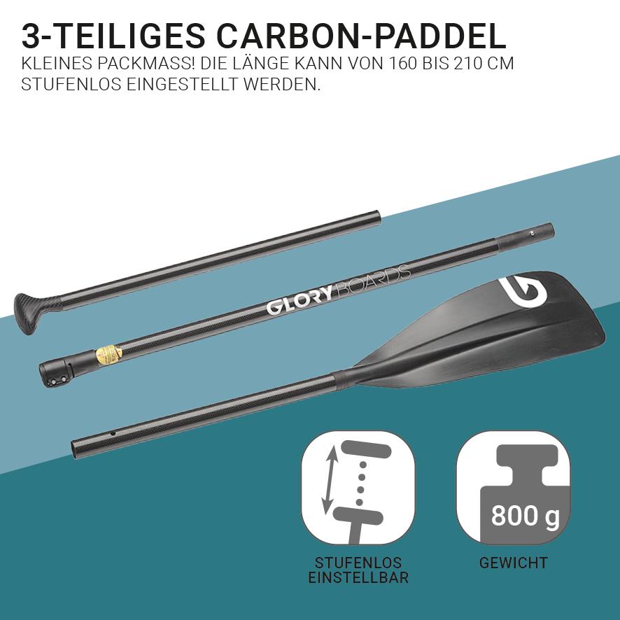 CROSS 11'0'' Windsurf SUP Set in Grün mit Carbon Paddel