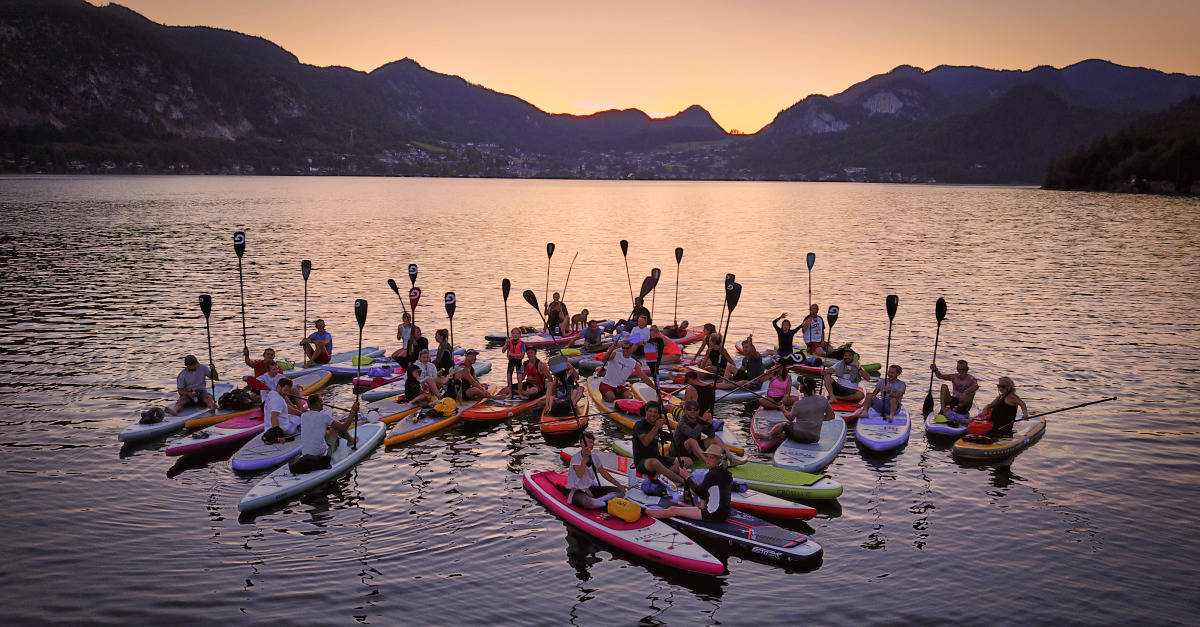Glory Boards Vollmond SUP Tour am Wolfgangsee